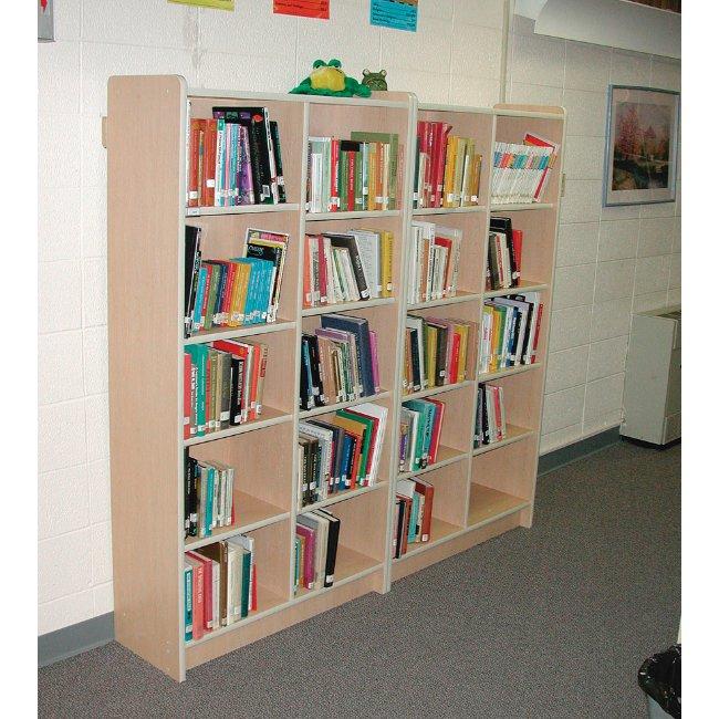 8 Shelf Tall Adjustable Single Sided Bookshelf Benees Furniture
