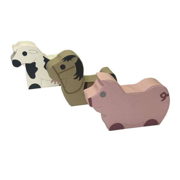 daycare soft seating - farm animal set